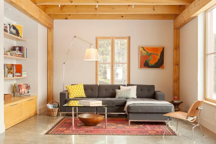 modern grey tufted sofa