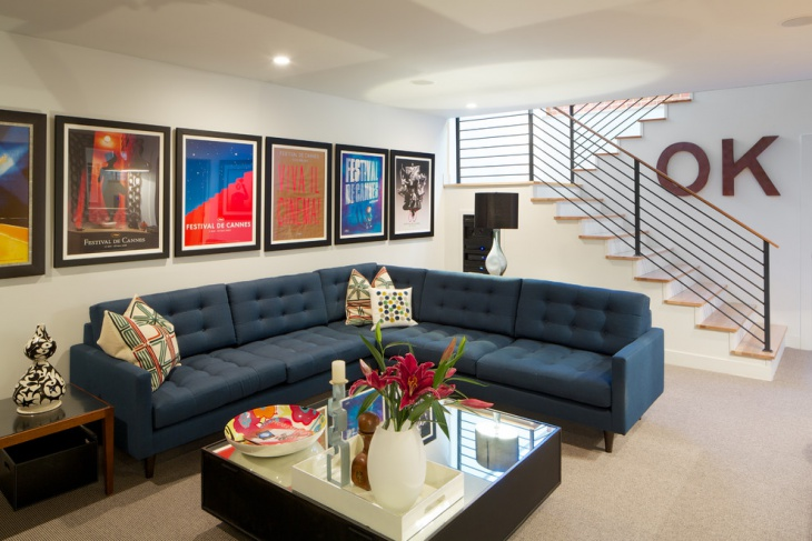 modern tufted sectional sofa