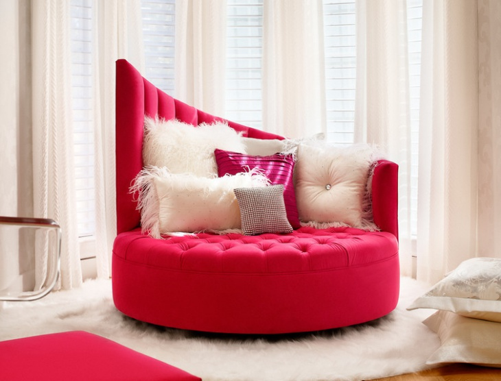 modern round tufted sofa