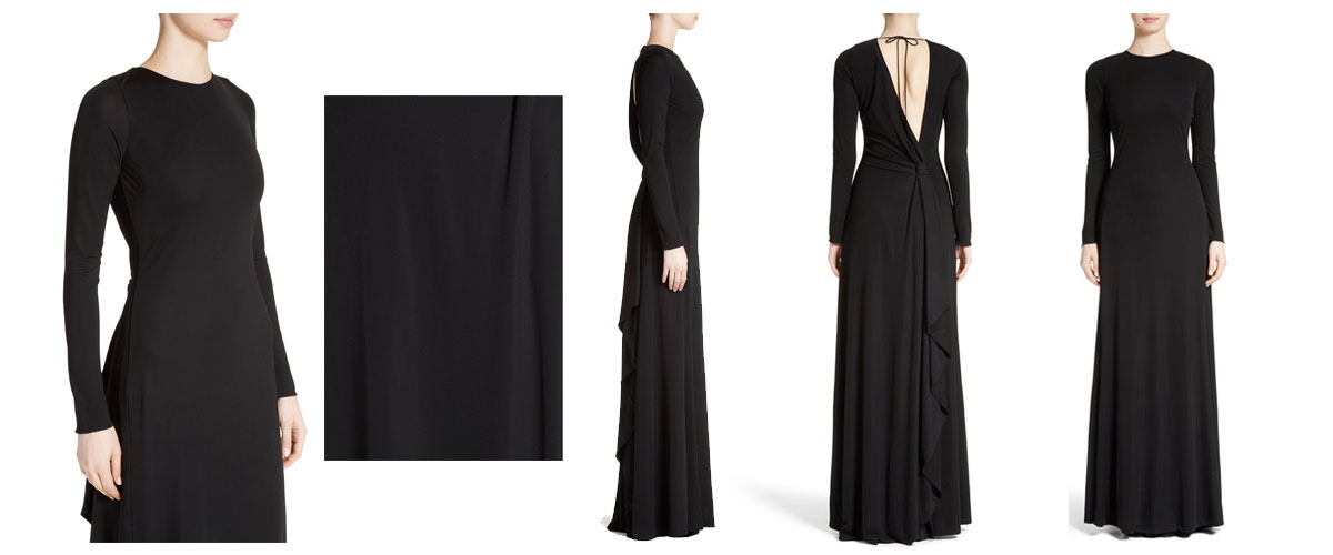 roberto cavalli v back jersey gown