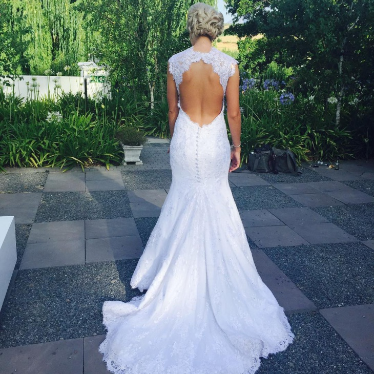 backless lace wedding mermaid dress