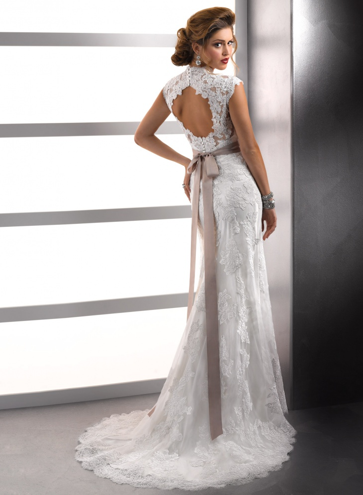 20 lace wedding dress designs ideas design trends for Backless wedding dresses designer