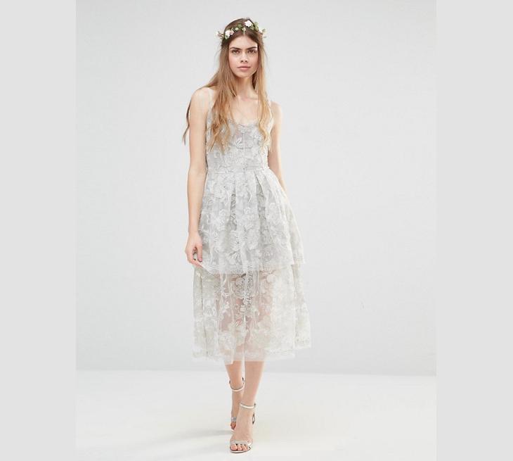 boho lace beach wedding dress