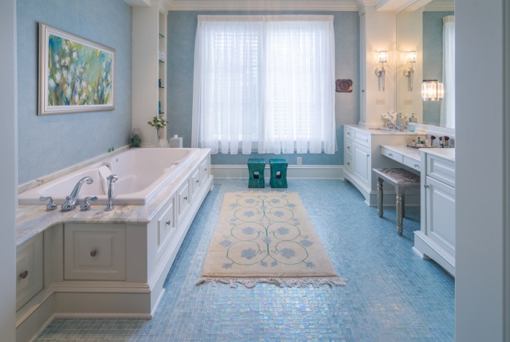 Bathroom Mosaic Floor Tiles