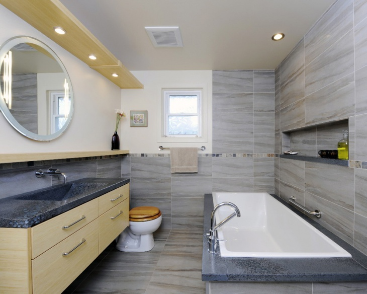 Grey Bathroom Wall Tiles