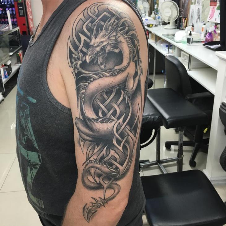 21 dragon tattoo designs ideas design trends premium psd vector downloads. Black Bedroom Furniture Sets. Home Design Ideas