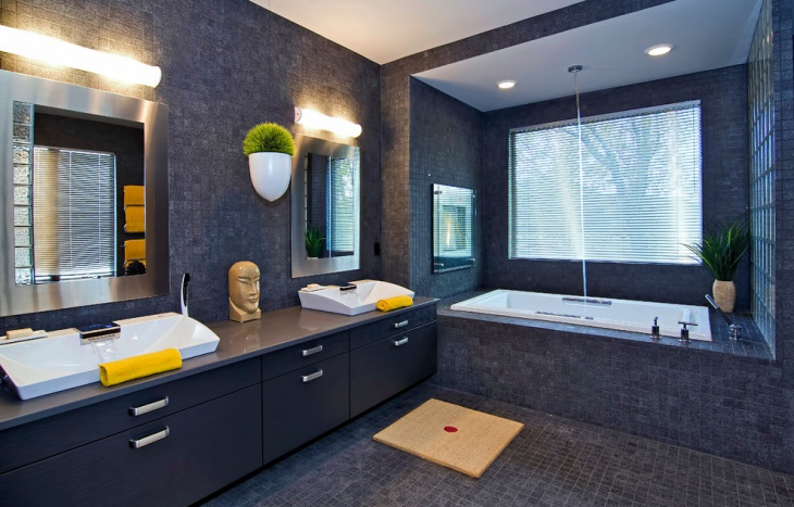 Modern Grey Bathroom Tiles