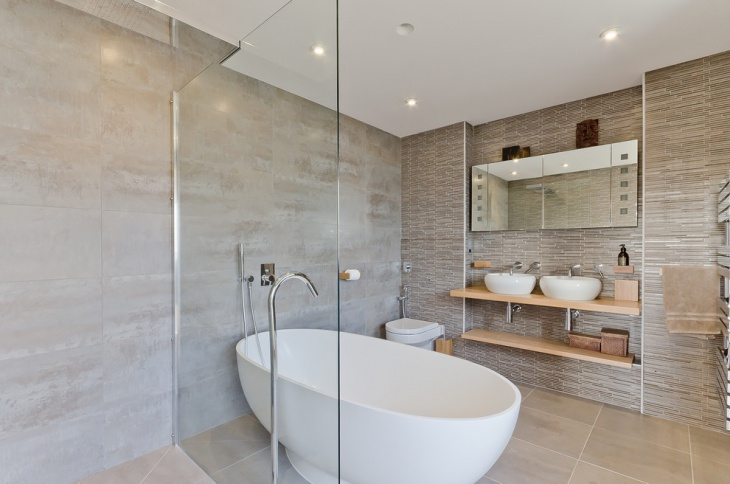 Large Stone Bathroom Tiles