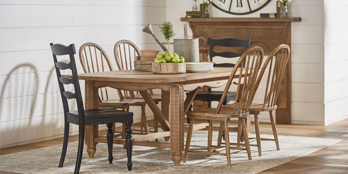 leaf carved dining table