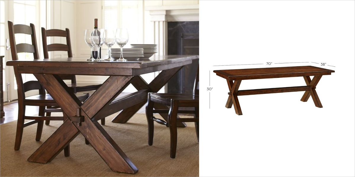 toscana fixed dining table