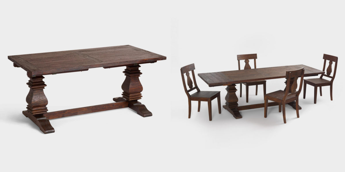 Spindle Extension Dining Room Table