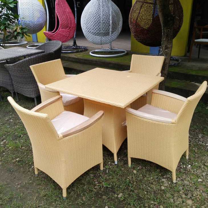 modern restaurant wicker furniture