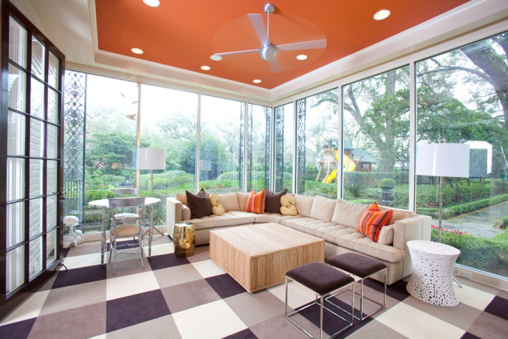 modern sunroom furniture decorating idea