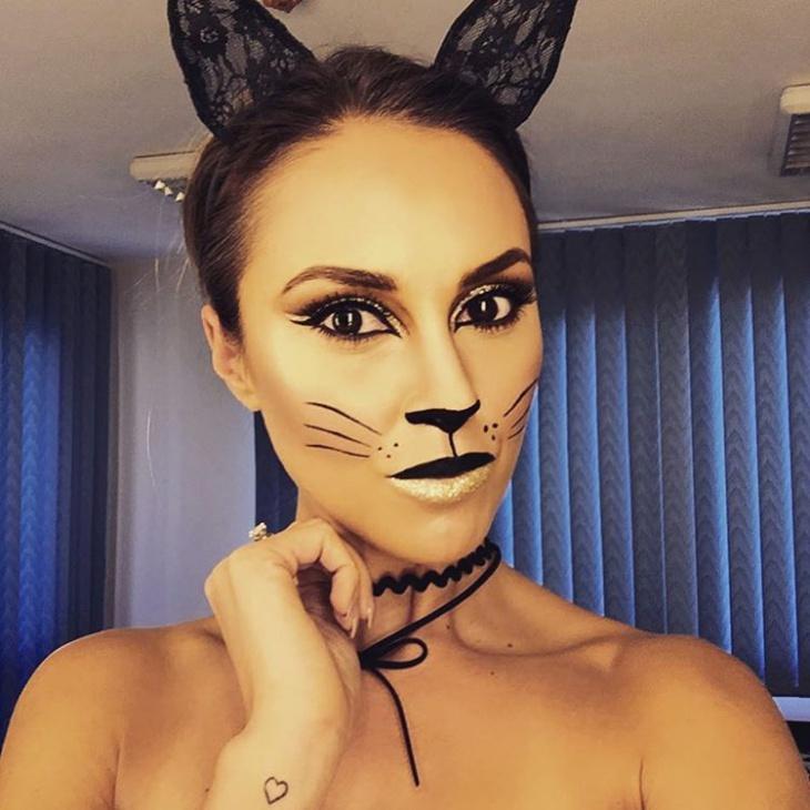 black kitty cat makeup1