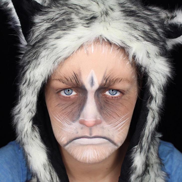 custome grumpy cat makeup