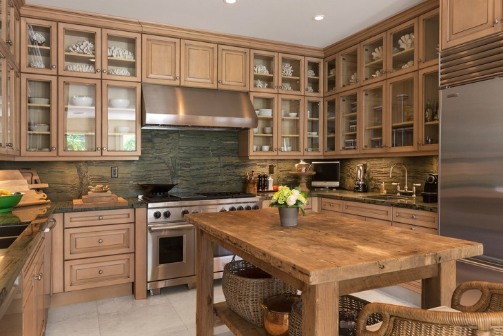 rustic wood kitchen cabinet