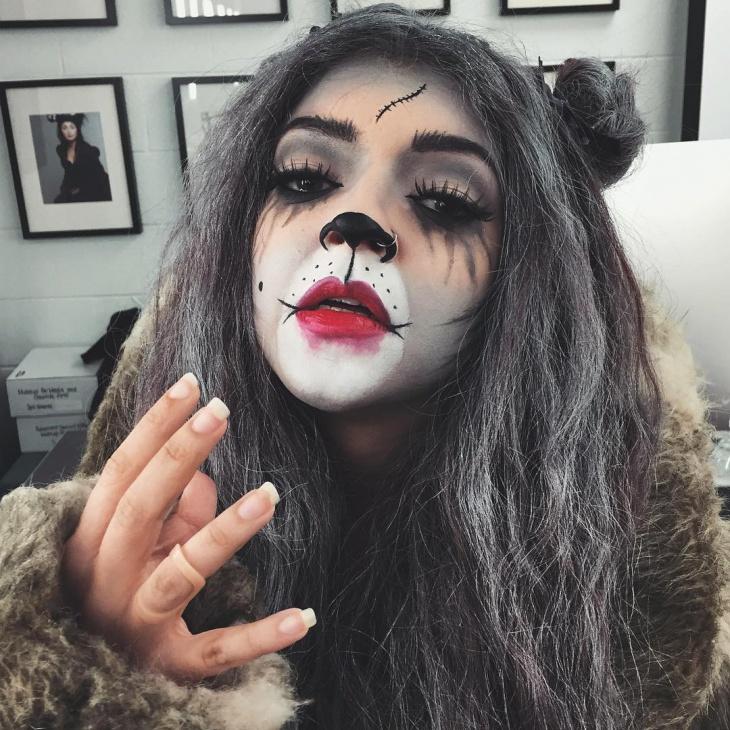 scary cat black makeup