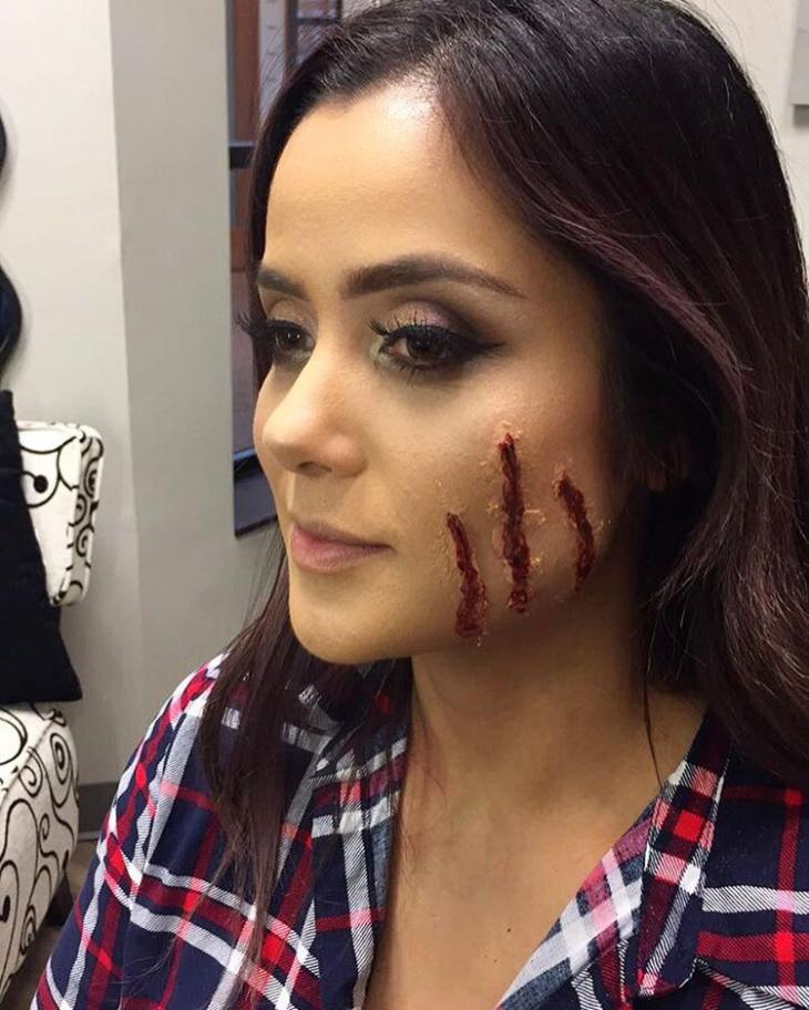 cat scratch face makeup ideas