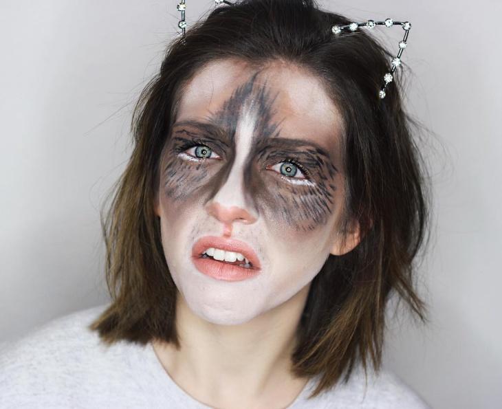 creepy cat halloween makeup