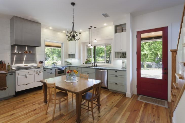 vintage farmhouse kitchen cabinet