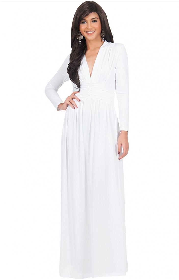 vintage white maxi formal dress