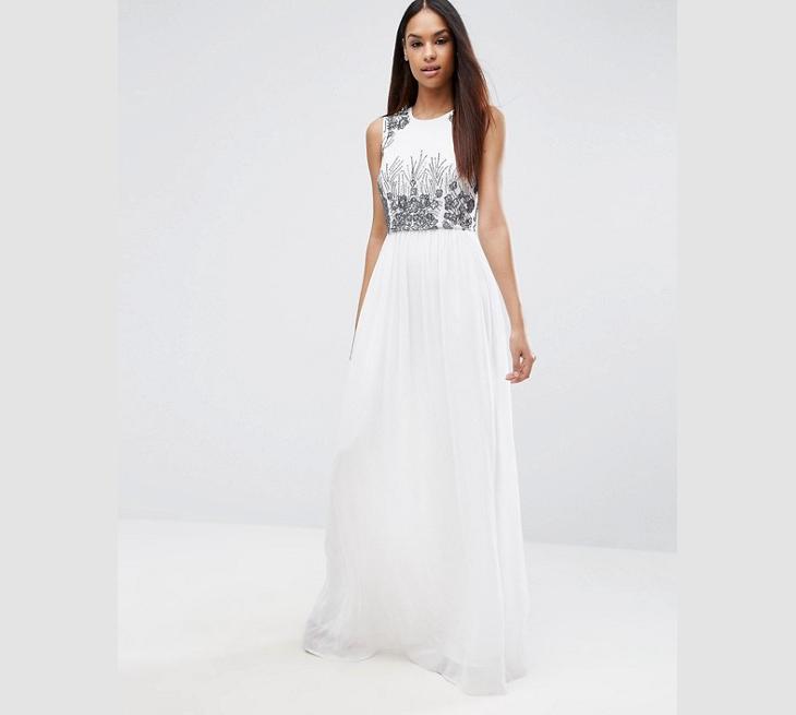 long white sequin maxi dress