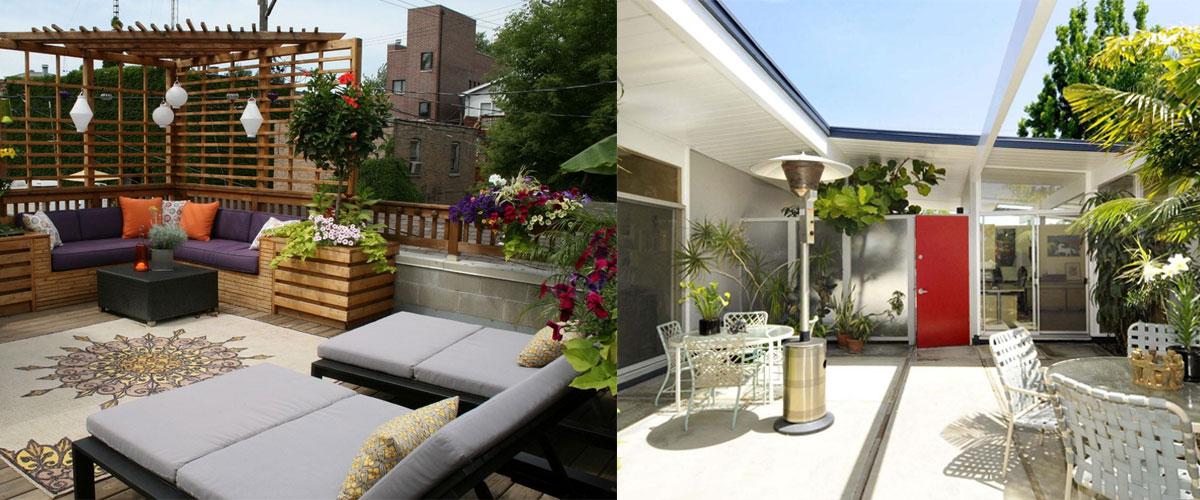 urban style patio