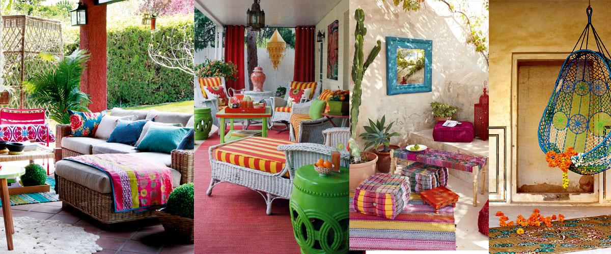 bohemian style patio