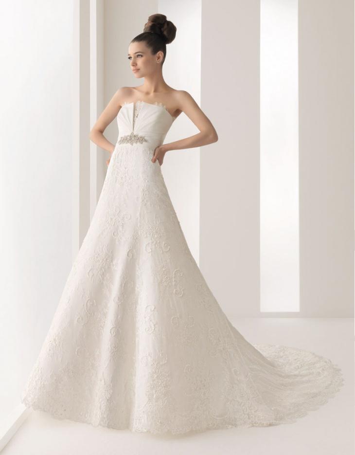 strapless white maxi prom dress