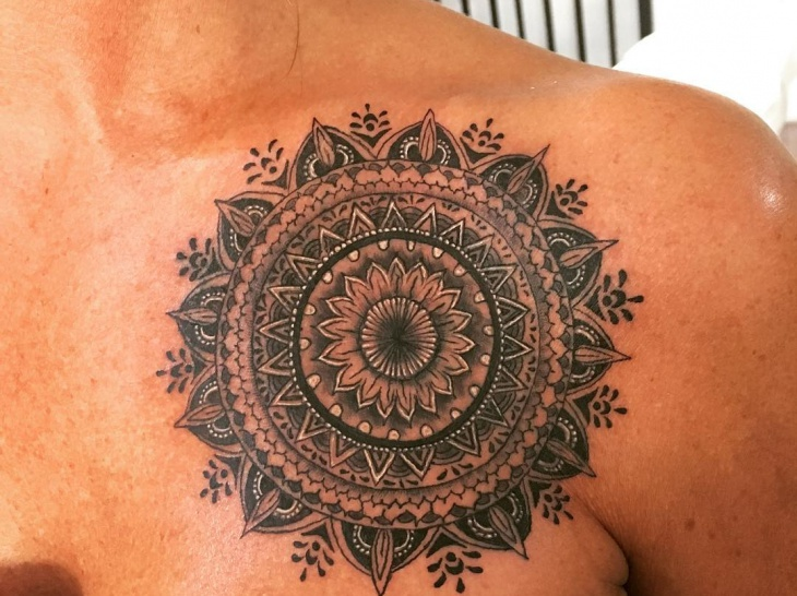 22 mandala tattoo designs ideas design trends for Chest tattoos for women designs