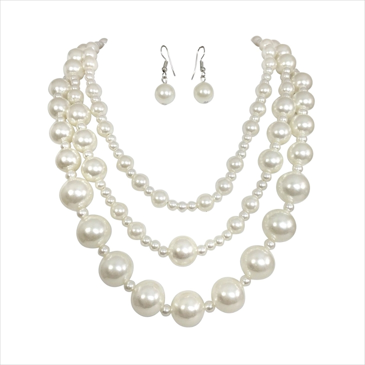 vintage pearl necklace for women