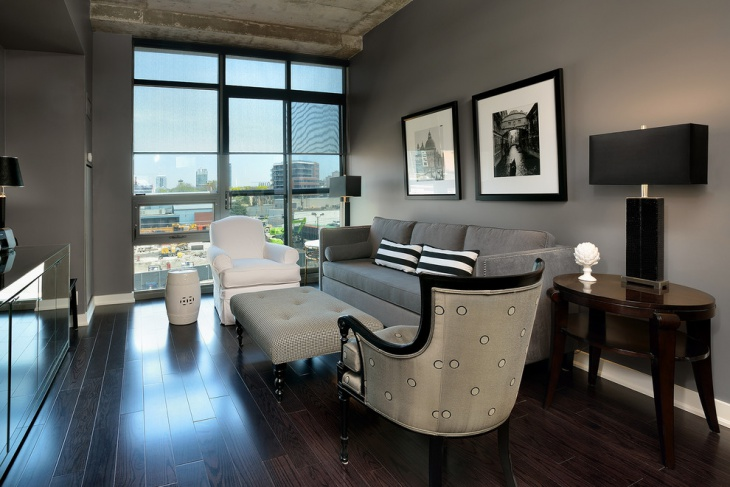 Grey Small Condo Living Room