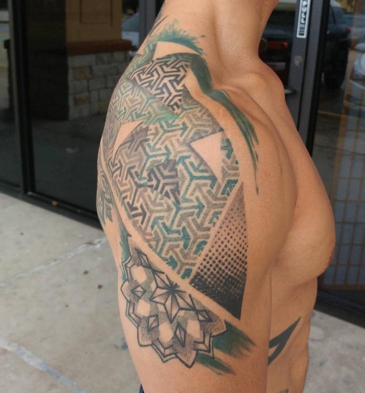 21 geometric tattoo designs ideas design trends for Geometric arm tattoos for men