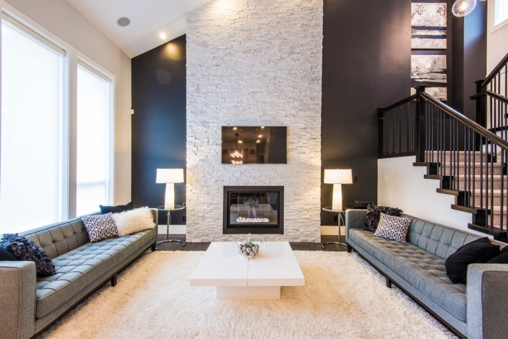 Modern Stone Fireplaces 19+ stone fireplace designs, ideas | design trends - premium psd