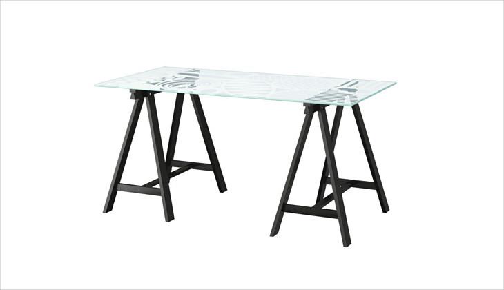 modern glass top office desk