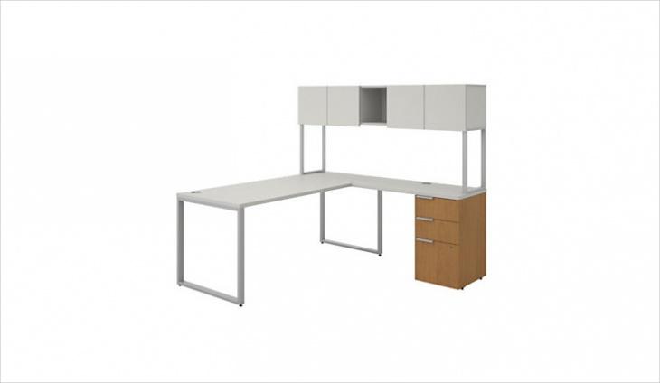 Modern office desk with storage