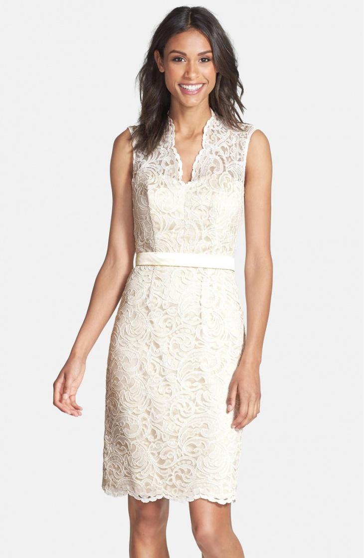 lace beach wedding short dress