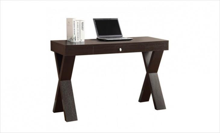 modern dark wood desk