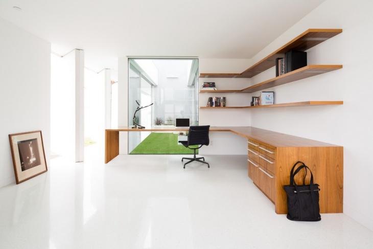 modern home office corner desk