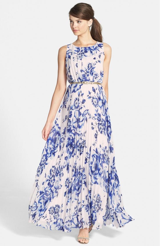 chiffon maxi dress for beach wedding