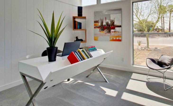 white modern home office desk