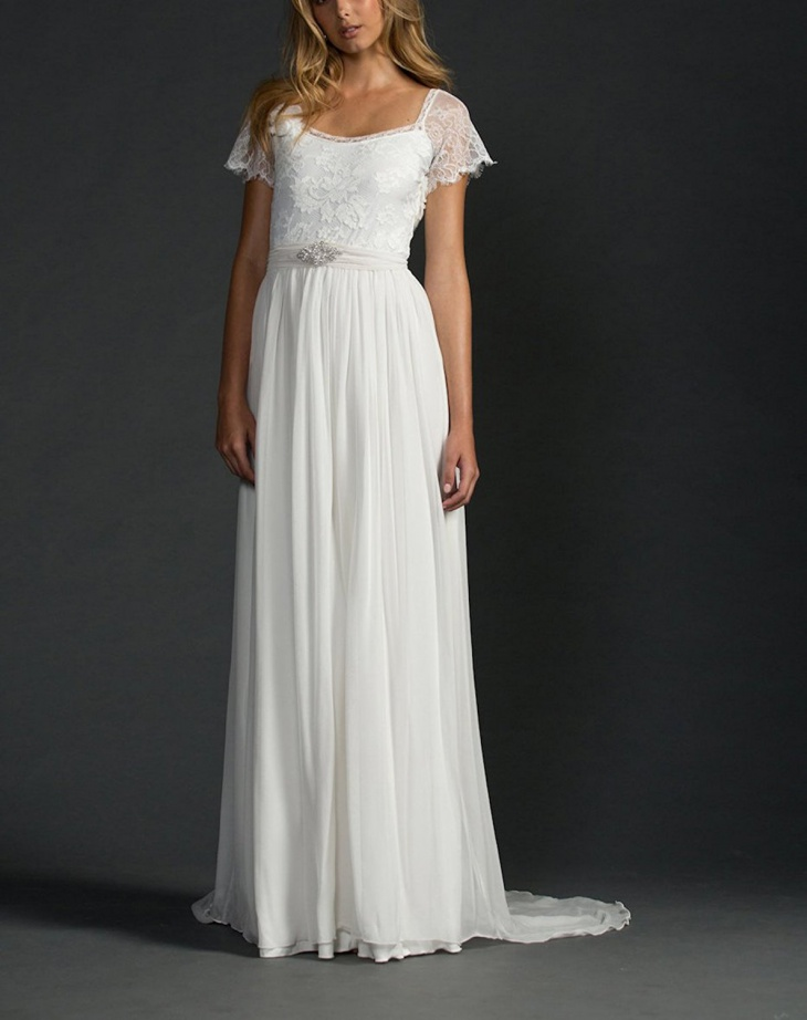 boho beach wedding lace dress