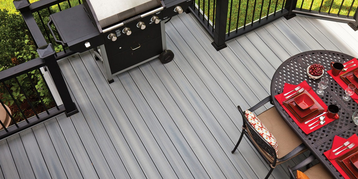 light coloured composite deck