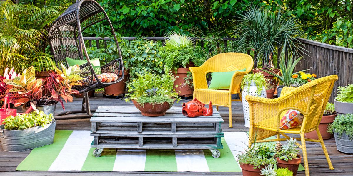 terrace style composite deck