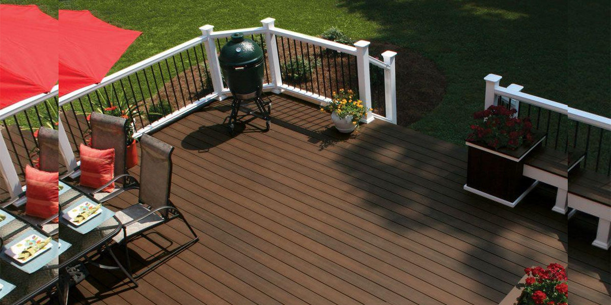 chestnut coloured composite deck