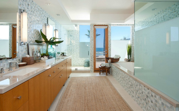cool luxury bathroom rug design