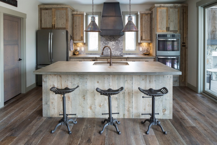 Small Rustic Cabinets Kitchen