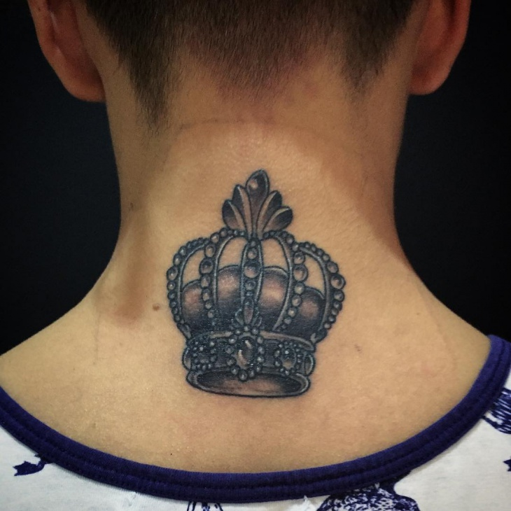 Crown Back Tattoo for Men