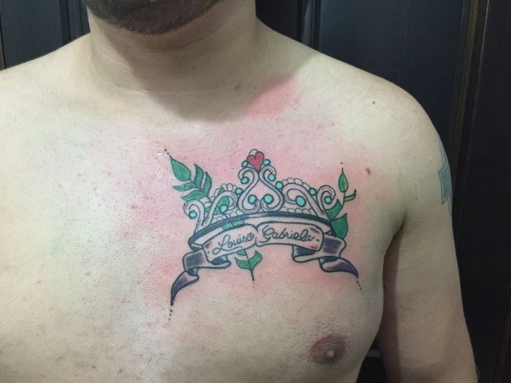 Traditional Tiara Crown Tattoo