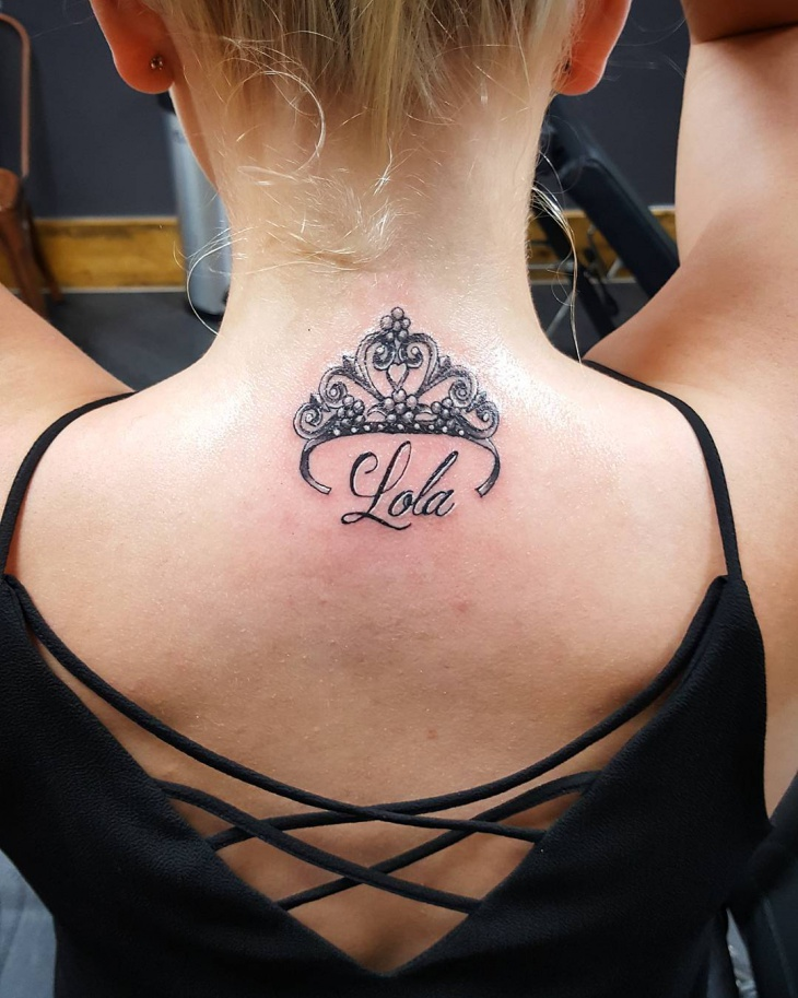 Tiara Crown Tattoo on Back